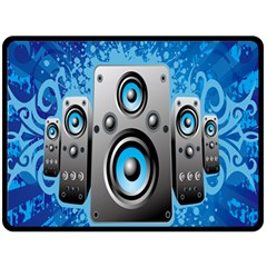 Sound System Music Disco Party Double Sided Fleece Blanket (large)  by Mariart