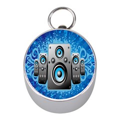Sound System Music Disco Party Mini Silver Compasses by Mariart