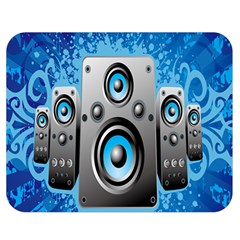 Sound System Music Disco Party Double Sided Flano Blanket (medium)  by Mariart
