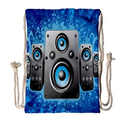 Sound System Music Disco Party Drawstring Bag (large) by Mariart