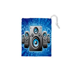 Sound System Music Disco Party Drawstring Pouches (xs)  by Mariart