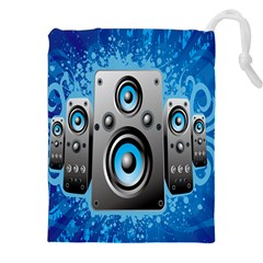 Sound System Music Disco Party Drawstring Pouches (xxl) by Mariart