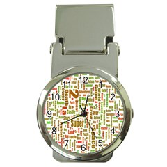 Screen Source Serif Text Money Clip Watches by Mariart