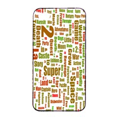 Screen Source Serif Text Apple Iphone 4/4s Seamless Case (black) by Mariart