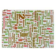 Screen Source Serif Text Cosmetic Bag (xxl)  by Mariart