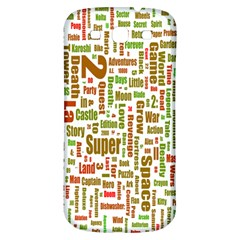 Screen Source Serif Text Samsung Galaxy S3 S Iii Classic Hardshell Back Case by Mariart