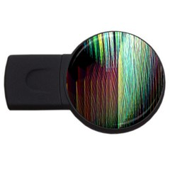 Screen Shot Line Vertical Rainbow Usb Flash Drive Round (4 Gb) by Mariart