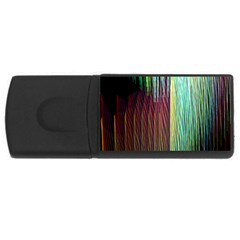 Screen Shot Line Vertical Rainbow Usb Flash Drive Rectangular (4 Gb) by Mariart