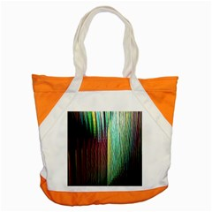 Screen Shot Line Vertical Rainbow Accent Tote Bag by Mariart