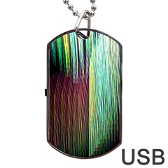 Screen Shot Line Vertical Rainbow Dog Tag Usb Flash (two Sides) by Mariart