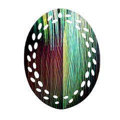 Screen Shot Line Vertical Rainbow Oval Filigree Ornament (two Sides) by Mariart