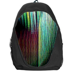 Screen Shot Line Vertical Rainbow Backpack Bag by Mariart