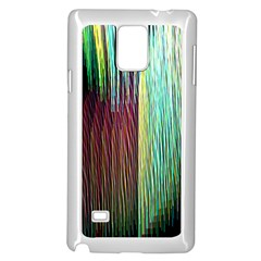 Screen Shot Line Vertical Rainbow Samsung Galaxy Note 4 Case (white) by Mariart