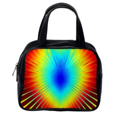 View Max Gain Resize Flower Floral Light Line Chevron Classic Handbags (one Side) by Mariart