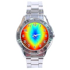 View Max Gain Resize Flower Floral Light Line Chevron Stainless Steel Analogue Watch by Mariart