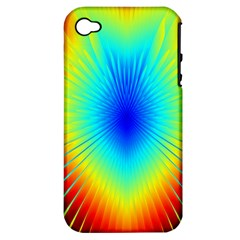 View Max Gain Resize Flower Floral Light Line Chevron Apple Iphone 4/4s Hardshell Case (pc+silicone) by Mariart