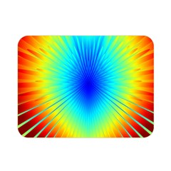 View Max Gain Resize Flower Floral Light Line Chevron Double Sided Flano Blanket (mini)  by Mariart