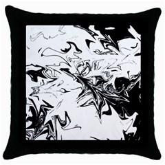 Colors Throw Pillow Case (black) by Valentinaart