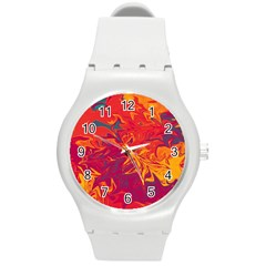 Colors Round Plastic Sport Watch (m) by Valentinaart
