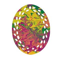 Colors Ornament (oval Filigree) by Valentinaart