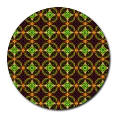 Kiwi Like Pattern Round Mousepads by linceazul