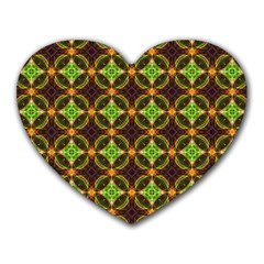 Kiwi Like Pattern Heart Mousepads by linceazul