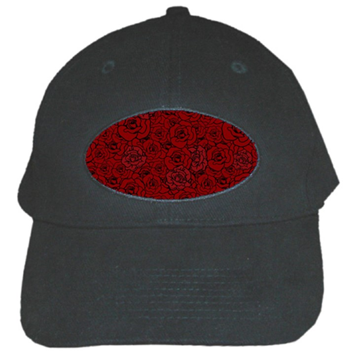 Red Roses Field Black Cap