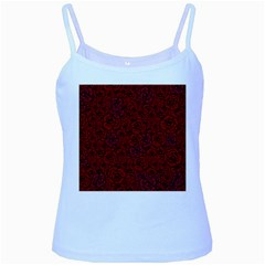Red Roses Field Baby Blue Spaghetti Tank