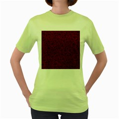 Red Roses Field Women s Green T Shirt