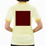 Red Roses Field Women s Fitted Ringer T-Shirts Back