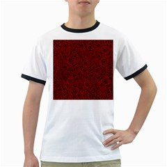Red Roses Field Ringer T Shirts