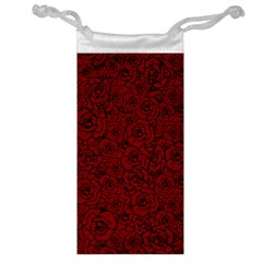 Red Roses Field Jewelry Bag