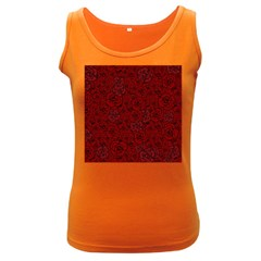 Red Roses Field Women s Dark Tank Top
