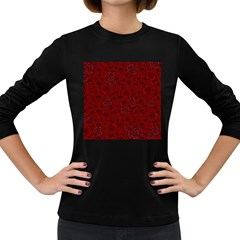 Red Roses Field Women s Long Sleeve Dark T Shirts by designworld65