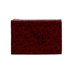 Red Roses Field Cosmetic Bag (medium)
