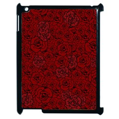 Red Roses Field Apple Ipad 2 Case (black)