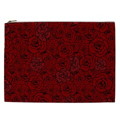 Red Roses Field Cosmetic Bag (xxl)