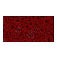 Red Roses Field Satin Wrap by designworld65