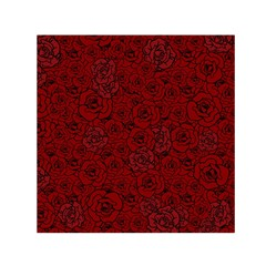 Red Roses Field Small Satin Scarf (square) by designworld65