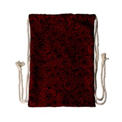 Red Roses Field Drawstring Bag (small)