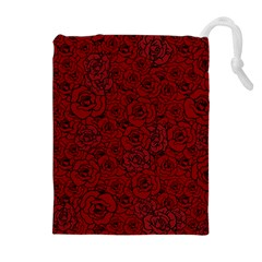 Red Roses Field Drawstring Pouches (extra Large)