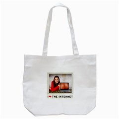 I Love The Internet Tote Bag (white) by RakeClag