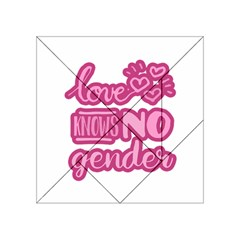 Love Knows No Gender Acrylic Tangram Puzzle (4  X 4 ) by Valentinaart