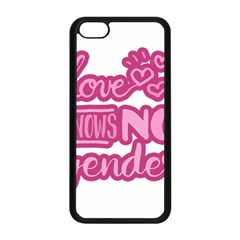 Love Knows No Gender Apple Iphone 5c Seamless Case (black) by Valentinaart