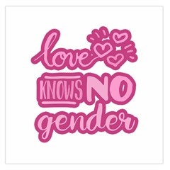 Love Knows No Gender Large Satin Scarf (square) by Valentinaart