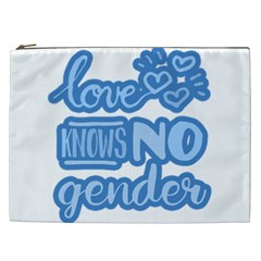 Love Knows No Gender Cosmetic Bag (xxl)  by Valentinaart