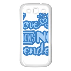 Love Knows No Gender Samsung Galaxy S3 Back Case (white) by Valentinaart