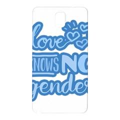 Love knows no gender Samsung Galaxy Note 3 N9005 Hardshell Back Case