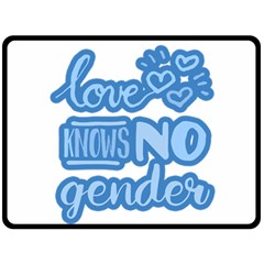 Love Knows No Gender Double Sided Fleece Blanket (large)  by Valentinaart