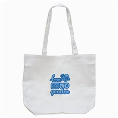 Love Knows No Gender Tote Bag (white) by Valentinaart